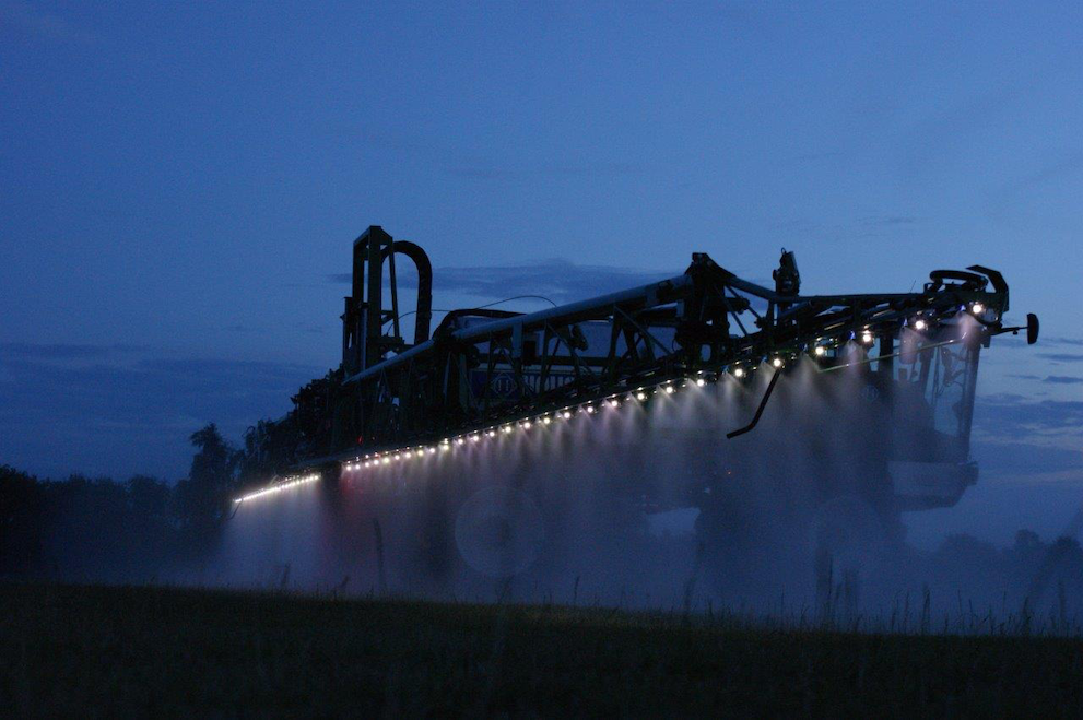 The solution for night crop-spraying